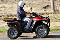 The ATV is commonly called a four wheeler in Australia. They are used extensively in agriculture