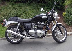 A new Triumph model for 2004, the Thruxton 900, named after a racing circuit in Hampshire, England