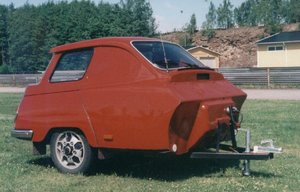 Home built Saab 95 teardrop trailer