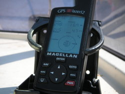 Magellan GPS receiver in a marine application.
