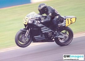 Ron Haslam on the rotary engined Norton