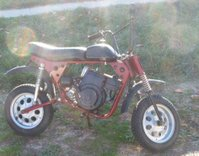 An old style minibike