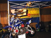 Minibikes can be made to look like miniature versions of big motocross bikes